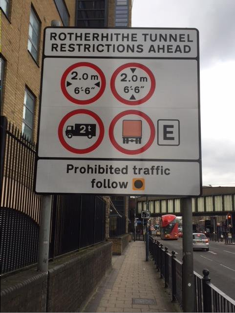 rotherhithe tunnel weight restrictions